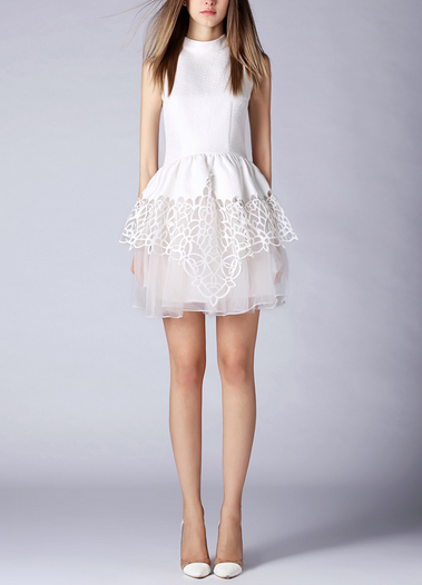 Sleeveless Embroidered Sweet Dress
